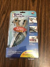 Roto Punch with Bonus 75 Eyelets & Snap Fasteners - As Seen on Tv