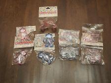 Lot/9 Pkg. -Vtg Nicole- Plastic Pink & Blue Baby Items x Decorations/Crafts New