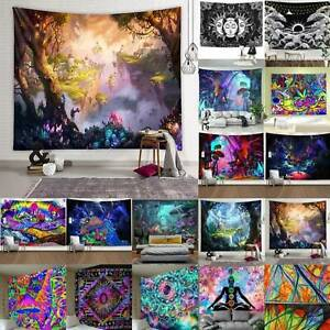 Wall Hanging Psychedelic Magic Print Science Fiction Cover Tapestry Modern Decor