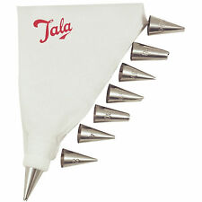 Icing Bag Set with 8 stainless steel nozzles and washable icing bag