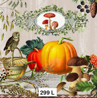 (299) TWO Individual Paper Luncheon Decoupage Napkins - AUTUMN