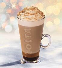 Costa V Shaped Small Latte Glass Mug Cup Cappucino Coffee 283ml Primo Utopia