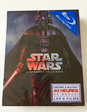 NEW COFFRET STAR WARS L'INTEGRALE DE LA SAGA VERSION 2015 BLU-RAY 9-DISC (RARE!)