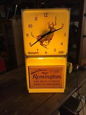 Vintage Advertising Remington Guns Lighted Clock