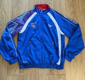 Speedo Warm Up Jacket Small London 2012 Great Britain Olympics Blue Rare!