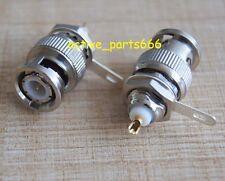 10x Connector BNC Male plug bulkhead handle solder panel mount straight