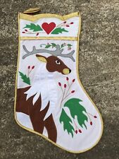 """House Of Hatten  Christmas Stocking 15"""" Long With Deer...Awesome"""