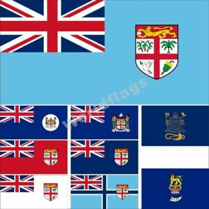 Fiji Flag 3X5 3X6FT Government Naval Civil Air President Governor-General