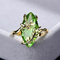 Echt 925 Sterling Silber Ring Oval Smaragd Stein Damenschmuck women silver rings