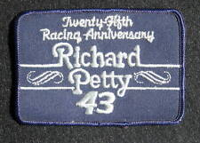 RICHARD PETTY EMBROIDERED SEW ON PATCH 43 ~ 25 RACING ANNIVERSARY NASCAR