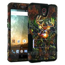 For ZTE Maven 2/ Sonata 3 Deer Camo Hybrid Rugged Impact Armor Phone Case Cover