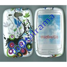Case in TPU Bulk White/White Flower/Flowers 02 for HTC G8/Desire/Wildfire