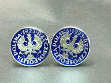 1923 Poland coin cufflinks 18mm.