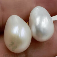 Fashion Mabe White Baroque Pearl 18K Gold Earrings Ma Bei Woman Personality