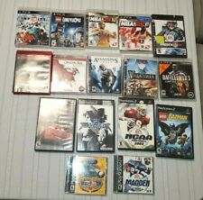 16 VIDEO GAMES LOT PlayStation Ps2 PS3 sports - Lego - battle - role play