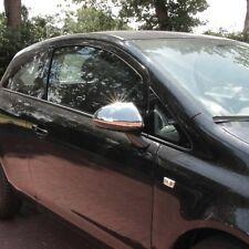 Chrom Spiegel Kappen für Opel Corsa D E aus Edelstahl V2A