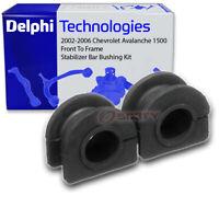 Delphi Front To Frame Stabilizer Bar Bushing Kit for 2002-2006 Chevrolet fp