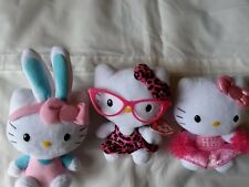 Ty Beanie Babies Hello Kitty (3 Beanies Total ) Including Pink Leopard Nerd