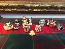 Miniature Dough Clay NATIVITY SET Jesus Joseph Mary 11 Handmade Figurines OOAK