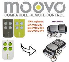 MOOVO MT4, MT4G, MT4V compatibile telecomando radiocomando, 433,92 Rolling code
