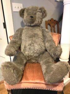 GIANT ANTIQUE TEDDY BEAR