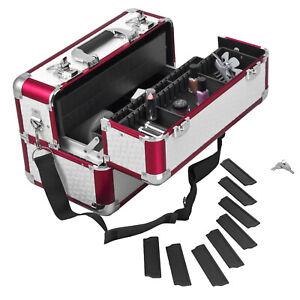 Schmuckkoffer Beauty Case Kosmetikkoffer Schminkkoffer - Rot Weiß Karo B-Ware