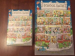 "⭐️VTG Springbok Hallmark Cards School Daze Jigsaw Puzzle 7""x10.5"" 100+ pieces"