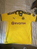 2019/20 PUMA Borussia Dortmund BVB Home Jersey Mens Size XL Yellow Black