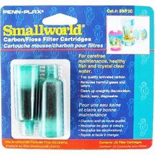 LM Penn Plax Smallworld Carbon/Floss Filter Cartridges 2 Pack