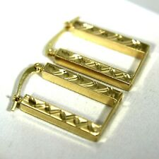 Retro Geometric Hoop 9ct Yellow Gold earrings