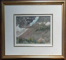 STUART CLIFFORD SHAW 1896-1970 ORIGINAL OIL PAINTING SIGNED SNOWY MOUNTAIN SCENE