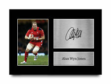 More details for alun wyn jones wales gift idea signed autograph a4 photo print for rugby fans