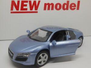 TOY CAR AUDI R8 BLUE Metallic MODEL BOY GIRL DAD MOM BIRTHDAY PRESENT GIFT NEW