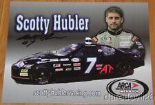 "2014 Scotty Hubler signed ""Scotty Hubler Racing"" Chevy Impala ARCA postcard"