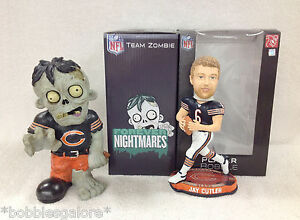 Chicago Bears Zombie and Jay Cutler Bobble Bobblehead Halloween