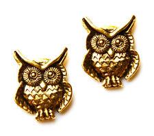 Owl Gold Tone Cufflinks - Gifts for Men - Anniversary Gift - Handmade - Gift Box