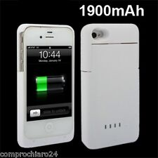 Case White with Charger 1900mAh for iPhone 4 4S - Cover Power Charger
