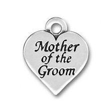 CORAZÓN MOTHER OF THE GROOM BODA CHARM PLATA DE LEY 925