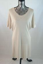 Lacoste Sport Active Short Sleeve Cream Summer Dress Size 42/10 Ef2366