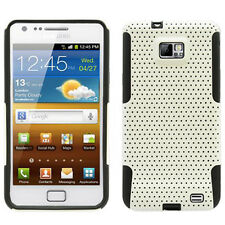 SAMSUNG i9100 ATTAIN GALAXY S2 SPORTY HYBRID 2 TONE CASE WHITE/BLACK