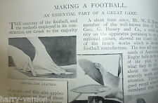 Old Leather Football Laceup Casey George Bussey Rare Old Antique Article 1898
