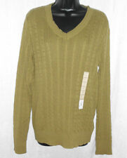 d9c483f8b2 Sonoma Sweater Size Large NWT Moss Green 100% Cotton Long Sleeve V Neck  Knit  30