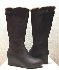 UGG MISCHA STOUT WATER / SNOW PROOF LEATHER WEDGE BOOT US 6 / EU 37 / UK 4.5