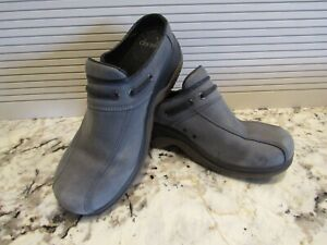 Dansko Sport Clogs Gray Suede Leather Shoes Women's Size 39 US 8.5-9  Pre-Owned