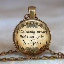 Vintage no good Cabochon Glass Dome Necklace Photo Pendant Chain Necklace