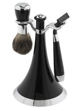 FMG MACH 3 3pc Shaving Gift Set - on Modern BLACK Stand with badger brush FM15