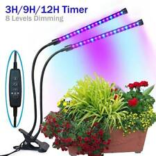 20W 40LED USB Timing Grow Light Double-head Dimmable Lamp for Growing Succulent