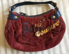 Authentic Vintage Juicy Couture Red blue leather trim daydreamer Handbag Purse