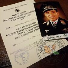 Knight's Cross of Iron Cross +diamonds for Luftwaffe Stuka Ace Hans-Ulrich Rudel