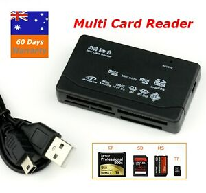 USB 2.0 All in One Multi Memory Card Reader CF SD SDHC MS TF M2 XD MMC